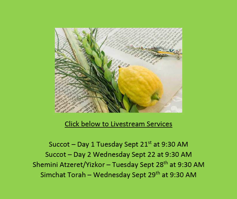 Succot and Simchat Torah Services